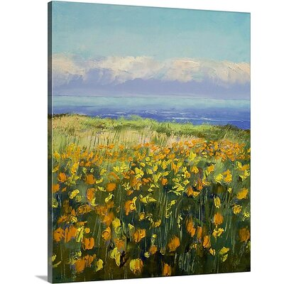 'Seaside Poppies' by Michael Creese Painting Print on Wrapped Canvas MC0130091_1_16x20_none