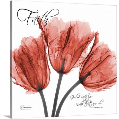 Tulips Faith X-Ray by Albert Koetsier Photographic Print on Wrapped Canvas 1937169_1_16x16_none