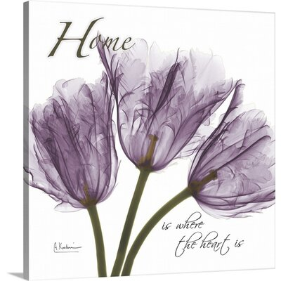 Tulips Home X-Ray by Albert Koetsier Photographic Print on Wrapped Canvas 1937170_29_8x8_none