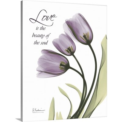 Tulips Love X-Ray by Albert Koetsier Photographic Print on Wrapped Canvas 1937172_29_8x10_none