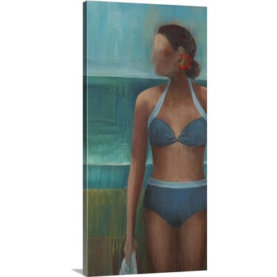 'Morning Swim' by Terri Burris Painting Print on Wrapped Canvas 2442033_1_12x24_none
