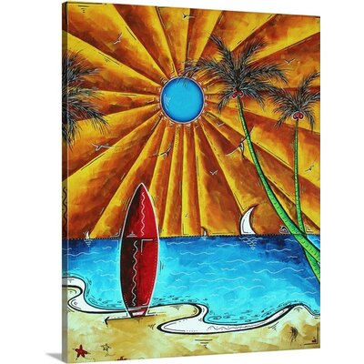 Waiting For the Surf' by Megan Duncanson Painting on Wrapped Canvas 1162271_1_19x24_none