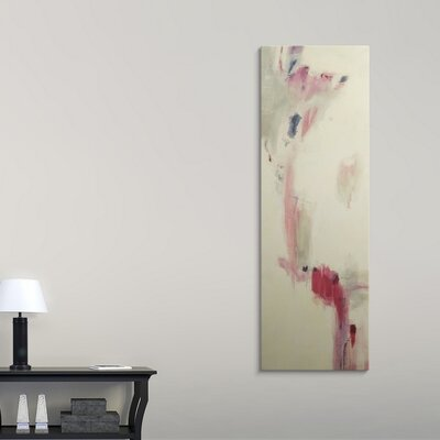 """'Pink, Beige Algorithm' by Jill Martin Painting Print Format: Canvas, Size: 30"""" H x 10"""" W x 1.5"""" D 2407922_1_10x30_none"""