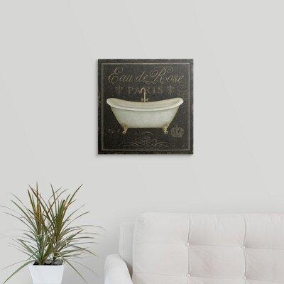 "'Bain De Luxe II' Daphne Brissonnet Graphic Art Print Size: 29"" H x 29"" W x 1"" D, Format: White Framed 1051186_21_24x24_none"