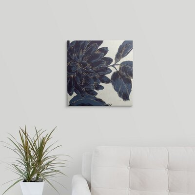Indigo Garden I by Daphne Brissonnet Graphic Art on Wrapped Canvas