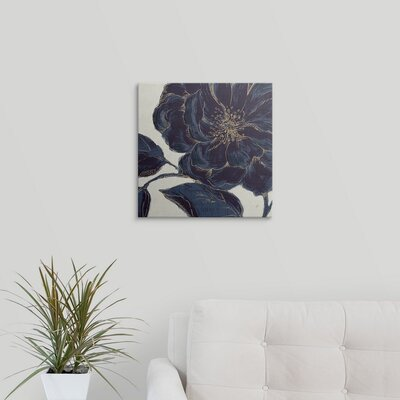 Indigo Garden II by Daphne Brissonnet Graphic Art on Wrapped Canvas