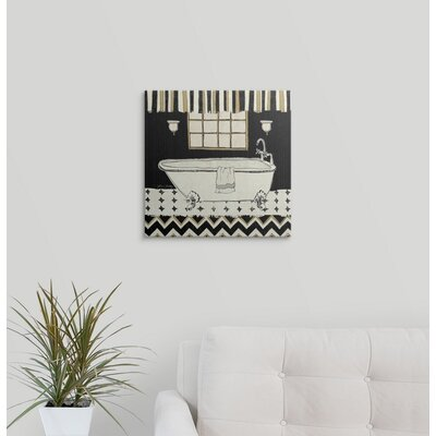 """'Good Clean Fun III Black and White' by Lisa Petty Painting Print Format: Black Frame, Size: 17"""" H x 17"""" W x 1"""" D 2219051_15_12x12_none"""