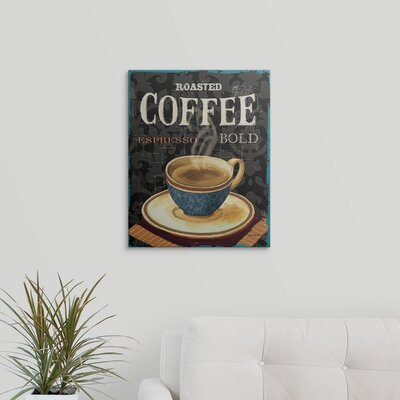 "'Today's Coffee IV' by Lisa Audit Vintage Advertisement Size: 20"" H x 16"" W x 1.5"" D, Format: Canvas 1051081_1_16x20_none"