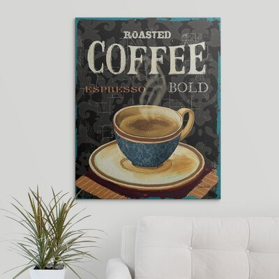 "'Today's Coffee IV' by Lisa Audit Vintage Advertisement Size: 30"" H x 24"" W x 1.5"" D, Format: Canvas 1051081_1_24x30_none"