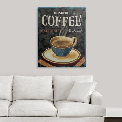"'Today's Coffee IV' by Lisa Audit Vintage Advertisement Size: 36"" H x 29"" W x 1.5"" D, Format: Canvas 1051081_1_29x36_none"