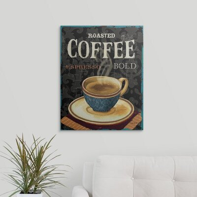 "'Today's Coffee IV' by Lisa Audit Vintage Advertisement Size: 24"" H x 19"" W x 1.5"" D, Format: Canvas 1051081_1_19x24_none"