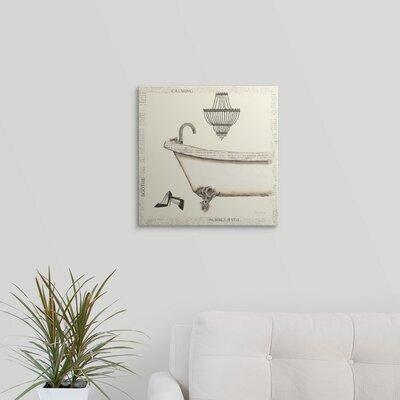 "'Emily's Boudoir I Bath' by Emily Adams Graphic Art Print Format: Black Frame, Size: 29"" H x 29"" W x 1"" D 2219213_15_24x24_none"