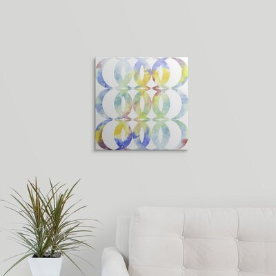 "'Metric Watercolors I' Jennifer Goldberger Graphic Art Print Format: Black Frame, Size: 17"" H x 17"" W x 1"" D 2376701_15_12x12_none"