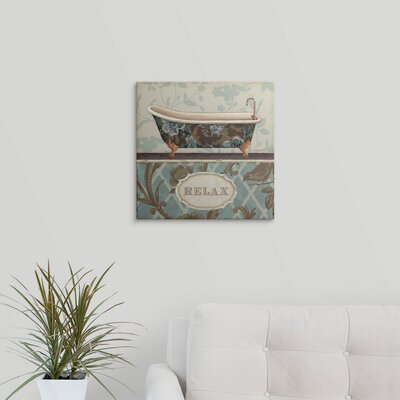 """'Bathroom Bliss I' by Lisa Audit Textual Art Format: White Frame, Size: 35"""" H x 35"""" W x 1"""" D 2218923_21_30x30_none"""