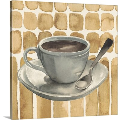 "Cafe au Lait II by Grace Popp Painting Print on Canvas Size: 16"" H x 16"" W x 1.5"" D 2352952_1_16x16_none"