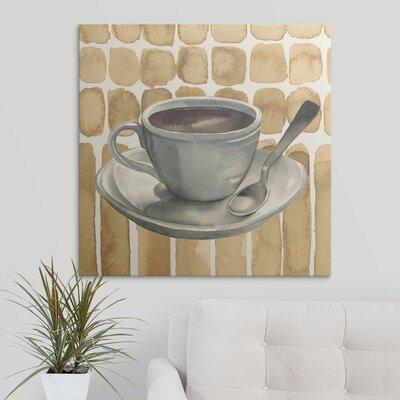 """'Cafe au Lait II' Grace Popp Painting Print Size: 8"""" H x 8"""" W x 0.75"""" D, Format: Canvas 2352952_29_8x8_none"""