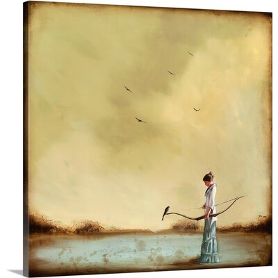 Second Thoughts by Alicia Armstrong Painting Print on Wrapped Canvas 2381481_1_24x24_none