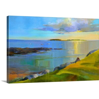 Kettle Cove Boats II by Holly Ready Wall Art on Wrapped Canvas 2414809_1_24x16_none