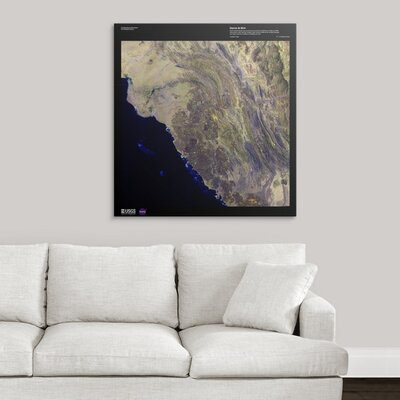 "'Harrat Al Birk - USGS Earth' Graphic Art Print Format: White Frame, Size: 29"" H x 28"" W x 1"" D 2405845_21_23x24_none"