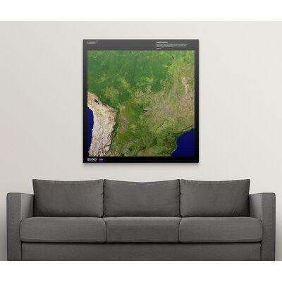 "'South America - USGS Earth' Graphic Art on Wrapped Canvas Size: 48"" H x 45"" W x 1.5"" D 2405899_1_45x48_none"