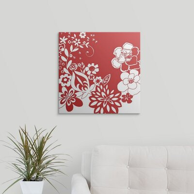 'Vibrant Tokyo Garden VI' by Chariklia Zarris Graphic Art on Wrapped Canvas 1138826_1_20x20_none