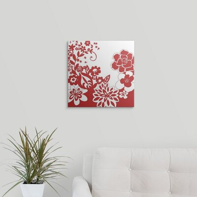 'Vibrant Tokyo Garden V' by Chariklia Zarris Graphic Art on Wrapped Canvas 1138825_29_8x8_none