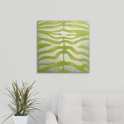 'Vibrant Zebra III' by Chariklia Zarris Graphic Art on Canvas 2445555_1_20x20_none