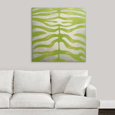 'Vibrant Zebra III' by Chariklia Zarris Graphic Art on Canvas 2445555_1_35x35_none