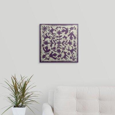 "'Folk Story' Chariklia Zarris Graphic Art Print Size: 35"" H x 35"" W x 1"" D, Format: Black Framed 1106621_15_30x30_none"