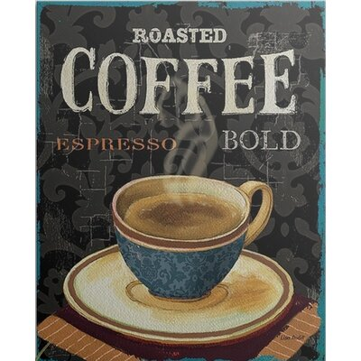 "'Today's Coffee IV' by Lisa Audit Vintage Advertisement Size: 25"" H x 21"" W x 1"" D, Format: Black Framed 1051081_15_16x20_none"