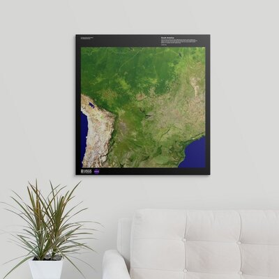 """'South America - USGS Earth' Graphic Art Print Format: Canvas, Size: 24"""" H x 23"""" W x 1.5"""" D 2405899_1_23x24_none"""