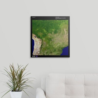 "'South America - USGS Earth' Graphic Art on Wrapped Canvas Size: 20"" H x 19"" W x 1.5"" D 2405899_1_19x20_none"