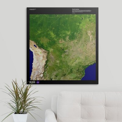 """'South America - USGS Earth' Graphic Art Print Format: Canvas, Size: 30"""" H x 28"""" W x 1.5"""" D 2405899_1_28x30_none"""