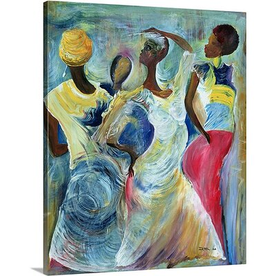 'Sister Act, 2002' by Ikahl Beckford Painting Print on Canvas 1048641_29_10x12_none