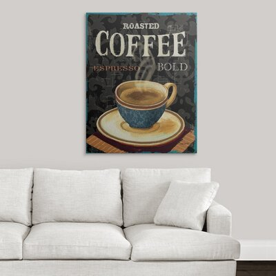 "'Today's Coffee IV' by Lisa Audit Vintage Advertisement Size: 35"" H x 29"" W x 1"" D, Format: Black Framed 1051081_15_24x30_none"