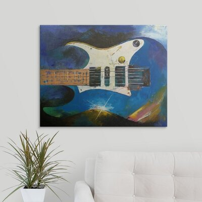 'Electric Guitar' by Michael Creese Painting Print MC0130070_29_10x8_none
