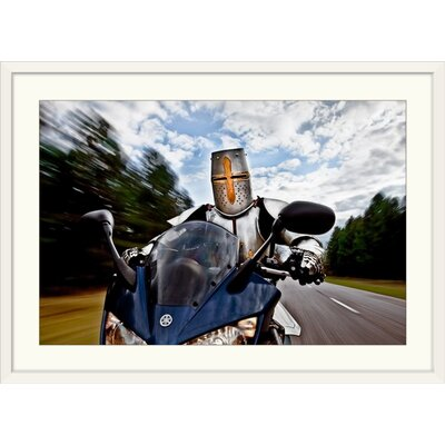 "'Knight Rider' by Christophe Kiciak Graphic Art Print Format: White Frame, Size: 17"" H x 23"" W x 1"" D 2351974_21_18x12_none"