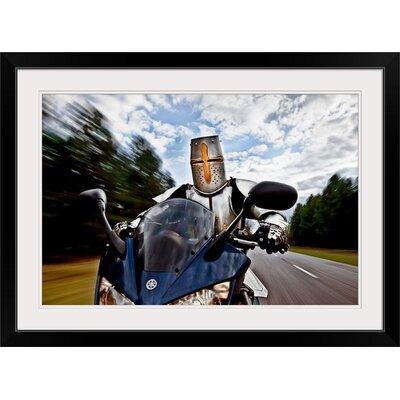 "'Knight Rider' by Christophe Kiciak Graphic Art Print Format: Black Frame, Size: 17"" H x 23"" W x 1"" D 2351974_15_18x12_none"