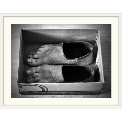 """'New Shoes' by Paul Gibney Photographic Print Format: White Frame, Size: 31"""" H x 41"""" W x 1"""" D 2355551_21_36x26_none"""