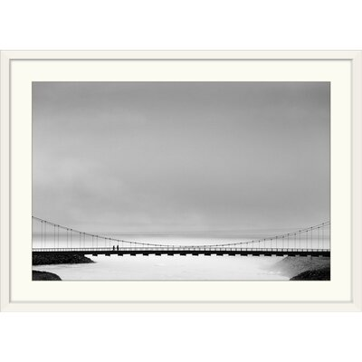 """'The Bridge' by Markus Kuhne Photographic Print Format: White Frame, Size: 21"""" H x 29"""" W x 1"""" D 2355806_21_24x16_none"""