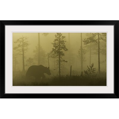 """'Morning Fog' by Svein Ove Linde Photographic Print Format: Black Frame, Size: 17"""" H x 26"""" W x 1"""" D 2355784_15_21x12_none"""
