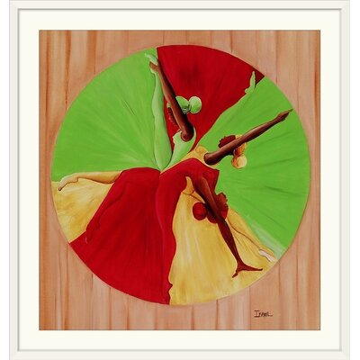"""'Dance Circle, 2002' by Ikahl Beckford Graphic Art Print Format: White Framed, Size: 21"""" H x 20"""" W x 1"""" D 1049916_21_15x16_none"""