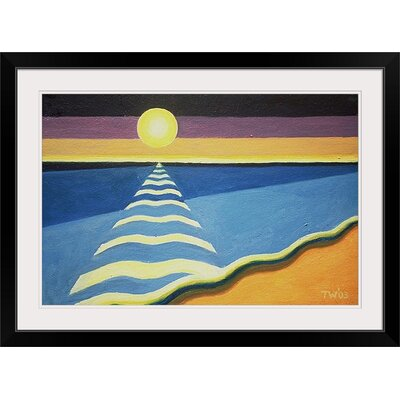 """'Sun, Sea and Sand, 2003' by Tilly Willis Painting Print Size: 17"""" H x 23"""" W x 1"""" D, Format: Black Framed 1048548_15_18x12_none"""