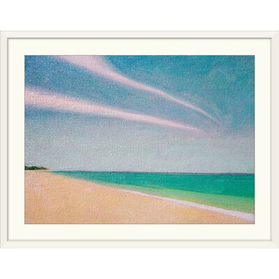 """'Indian Ocean, 1996' by Tilly Willis Painting Print Size: 31"""" H x 41"""" W x 1"""" D, Format: White Framed 1048899_21_36x26_none"""