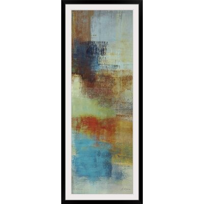 """'Color Abstract II' by Simon Addyman Painting Print Size: 41"""" H x 17"""" W x 1"""" D, Format: Black Framed 1896521_15_12x36_none"""