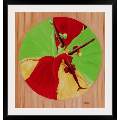 """'Dance Circle, 2002' by Ikahl Beckford Graphic Art Print Format: Black Framed, Size: 25"""" H x 24"""" W x 1"""" D 1049916_15_19x20_none"""