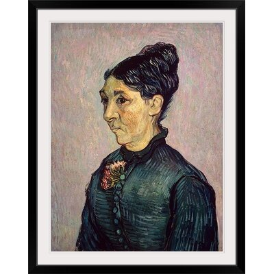 """'Portrait of Madame Jeanne Lafuye Trabuc, 1889' by Vincent Van Gogh Painting Print Size: 41"""" H x 32"""" W x 1"""" D, Format: Black Framed BAL385519_15_27x36_none"""