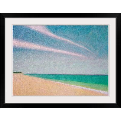 """'Indian Ocean, 1996' by Tilly Willis Painting Print Size: 22"""" H x 29"""" W x 1"""" D, Format: Black Framed 1048899_15_24x17_none"""