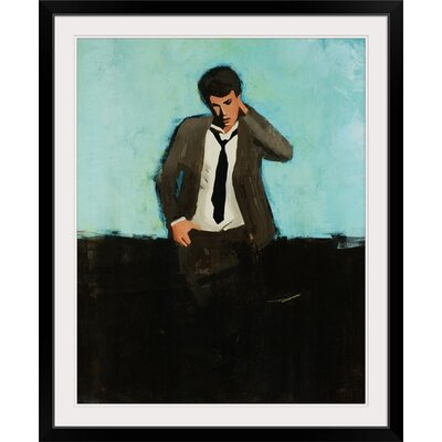 "'One More Thing' Clayton Rabo Painting Print Format: Black Framed, Size: 20"" H x 17"" W x 1"" D 1990429_15_12x15_none"