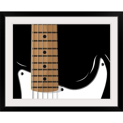 "'Guitar' by Michael Tompsett Painting Print Size: 17"" H x 21"" W x 1"" D, Format: Black Framed 1057333_15_16x12_none"